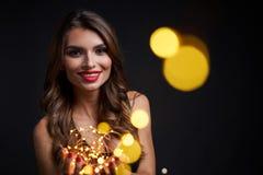 Партия, праздники, Новый Год или рождество и концепция торжества стоковое изображение rf