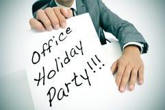 Партия праздника офиса Стоковые Изображения