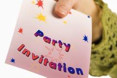 партия приглашения Стоковое Изображение