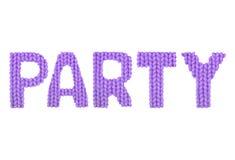 партия Пурпур цвета Стоковые Изображения RF