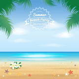 Партия пляжа лета, здравствуйте! предпосылка лета иллюстрация вектора