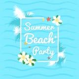 Партия пляжа лета, предпосылка летних каникулов бесплатная иллюстрация