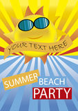 Партия пляжа лета Стоковые Фотографии RF