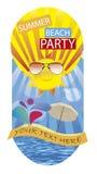Партия пляжа лета Стоковое Изображение RF
