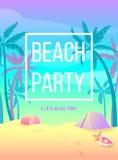 партия пляжа Позвольте нам иметь потеху Стоковое Изображение