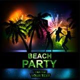 Партия пляжа бесплатная иллюстрация