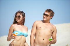Партия пляжа Стоковые Фото