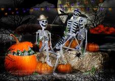 Партия скелетов хеллоуина Стоковое Фото