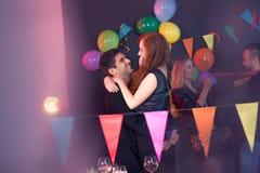 партия танцы пар Стоковые Фото