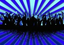 партия толпы предпосылки Стоковое фото RF