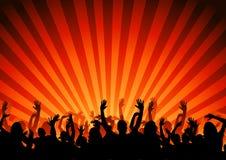 партия толпы Стоковое Фото