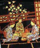 Партия, торжество, торжественное, кимоно, раздумье стоковое фото