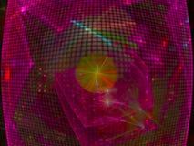 Партия фрактали конспекта цифров творческая, дизайн графика обоев фона красивый, фантазия, праздничная стоковое фото rf
