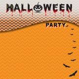 Партия хеллоуина с безшовной предпосылкой картины Стоковая Фотография RF