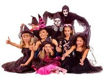 Партия хеллоуина с ребенк группы Стоковая Фотография RF