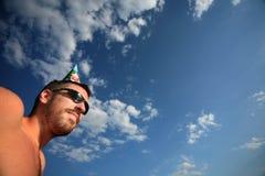 партия человека дня рождения стоковые изображения rf