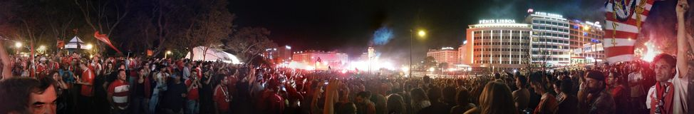 Партия 2014-15 чемпионата Benfica стоковая фотография