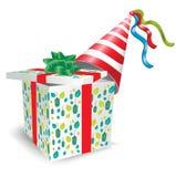 партия шлема подарка коробки открытая Стоковое фото RF