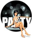 партия девушки Стоковая Фотография