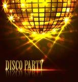 Партия диско предпосылки Стоковое Фото