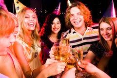 партия cheers Стоковые Фотографии RF