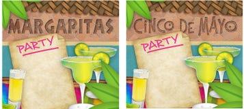 Партия Cinco De Mayo Маргариты иллюстрация вектора