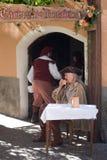 партия costume средневековая Стоковая Фотография