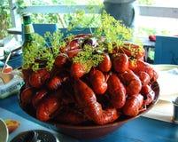партия crayfish Стоковые Изображения RF