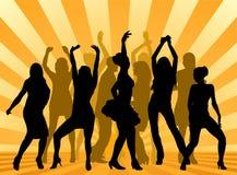 партия dansers Стоковые Фотографии RF
