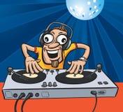 Партия DJ шаржа Стоковая Фотография