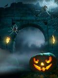 партия halloween конструкции предпосылки Стоковые Изображения RF