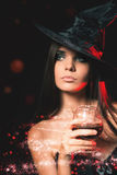 Партия Halloween Костюмы хеллоуина Стоковая Фотография
