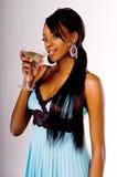 партия martini девушки стоковое изображение rf