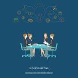 Партнерство и метод мозгового штурма деловой встречи Стоковые Изображения RF