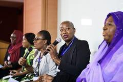 Партнерство международной конференции представления диктора стоковое изображение