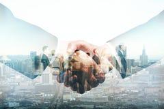 партнерство рук принципиальной схемы различное соединяет головоломку 2 Стоковое фото RF