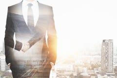 партнерство рук принципиальной схемы различное соединяет головоломку 2 Стоковые Изображения