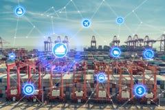 Партнер c интерфейса технологии соединения глобального бизнеса глобальный Стоковая Фотография RF