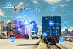 Партнер c интерфейса технологии соединения глобального бизнеса глобальный Стоковые Фото