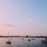 Парусники взгляда гавани Стоковое Фото