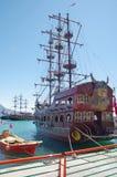 Парусники в гавани Alanya стоковая фотография