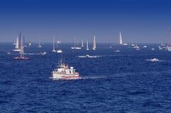 Парусники в St Tropez стоковые фото