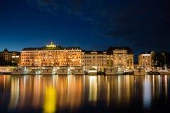 Парусники на портовом районе ` s Стокгольма Швеция 31 07 2016 Стоковое Фото