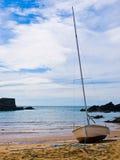 парусник входа пляжа Стоковая Фотография