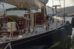 Парусник в гавани St Tropez стоковое изображение