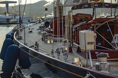 Парусник в гавани St Tropez стоковое фото rf