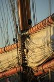 Парусник в заливе St Tropez стоковое изображение