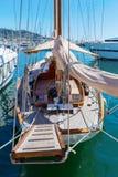 Парусник в порте Монако Стоковые Изображения