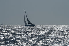 Парусник на бурном море Стоковое Изображение