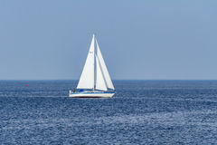 Парусник на заливе Raritan в Нью-Джерси Стоковое Фото